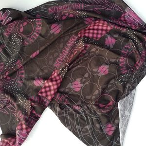 Pink and Black Square Harley Davidson Scarf